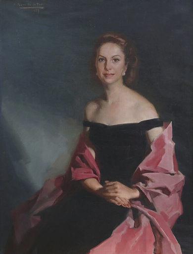 Retrato de Mercedes Junco Calderón. 1957